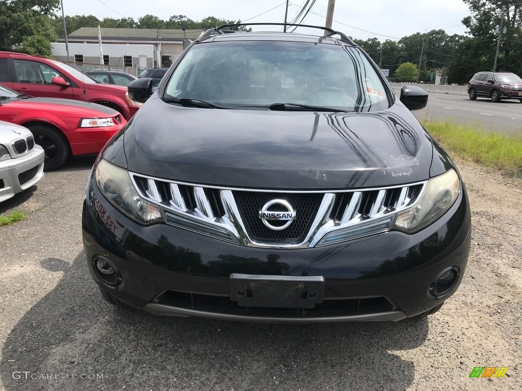 2009 Murano SL AWD - Super Black / Black photo #2