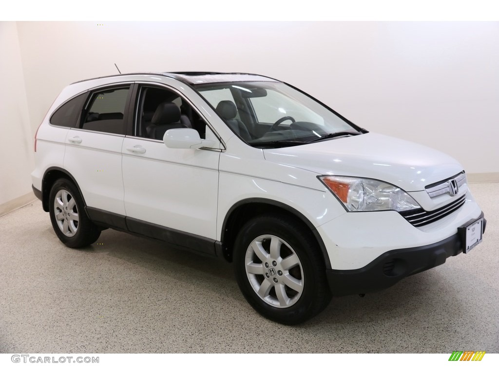 2009 CR-V EX-L 4WD - Taffeta White / Gray photo #1