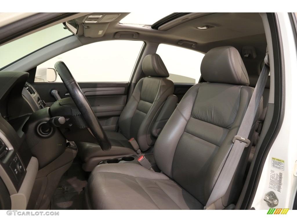 2009 CR-V EX-L 4WD - Taffeta White / Gray photo #5