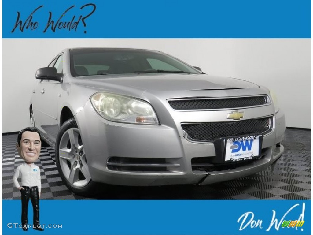 2008 Malibu LS Sedan - Silverstone Metallic / Titanium Gray photo #1
