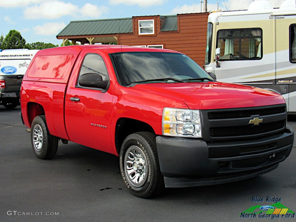 2011 Silverado 1500 Regular Cab - Victory Red / Dark Titanium photo #8