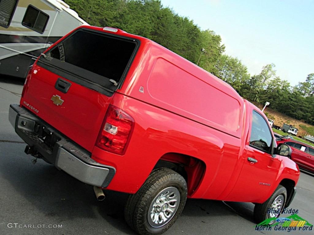 2011 Silverado 1500 Regular Cab - Victory Red / Dark Titanium photo #23