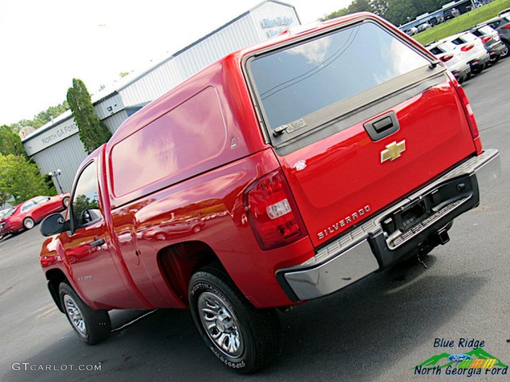 2011 Silverado 1500 Regular Cab - Victory Red / Dark Titanium photo #24
