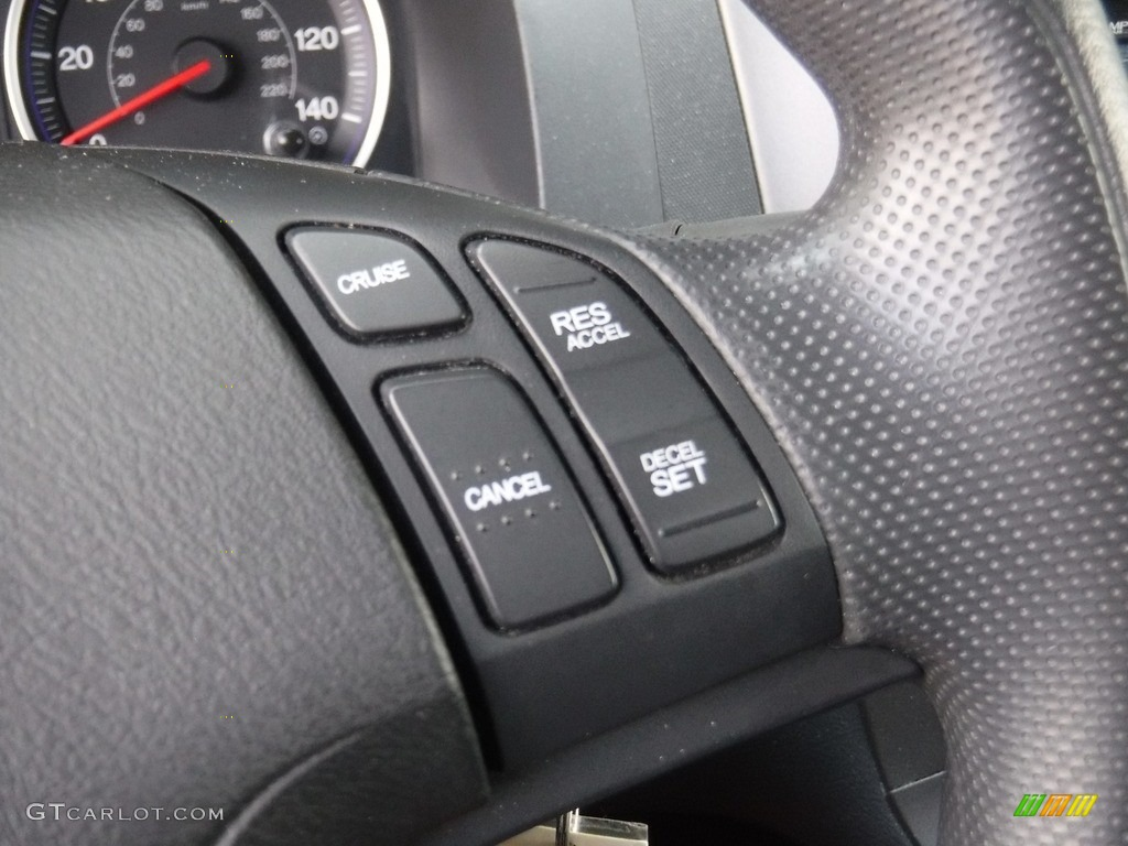2011 CR-V LX 4WD - Polished Metal Metallic / Black photo #15