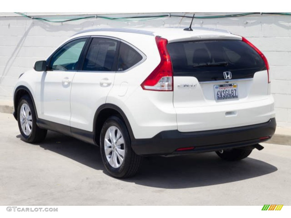 2012 CR-V EX-L - White Diamond Pearl / Beige photo #2