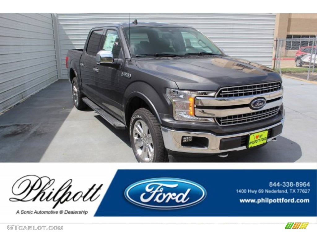 2019 F150 Lariat SuperCrew 4x4 - Magnetic / Black photo #1