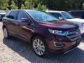 Burgundy Velvet Metallic 2017 Ford Edge Titanium AWD