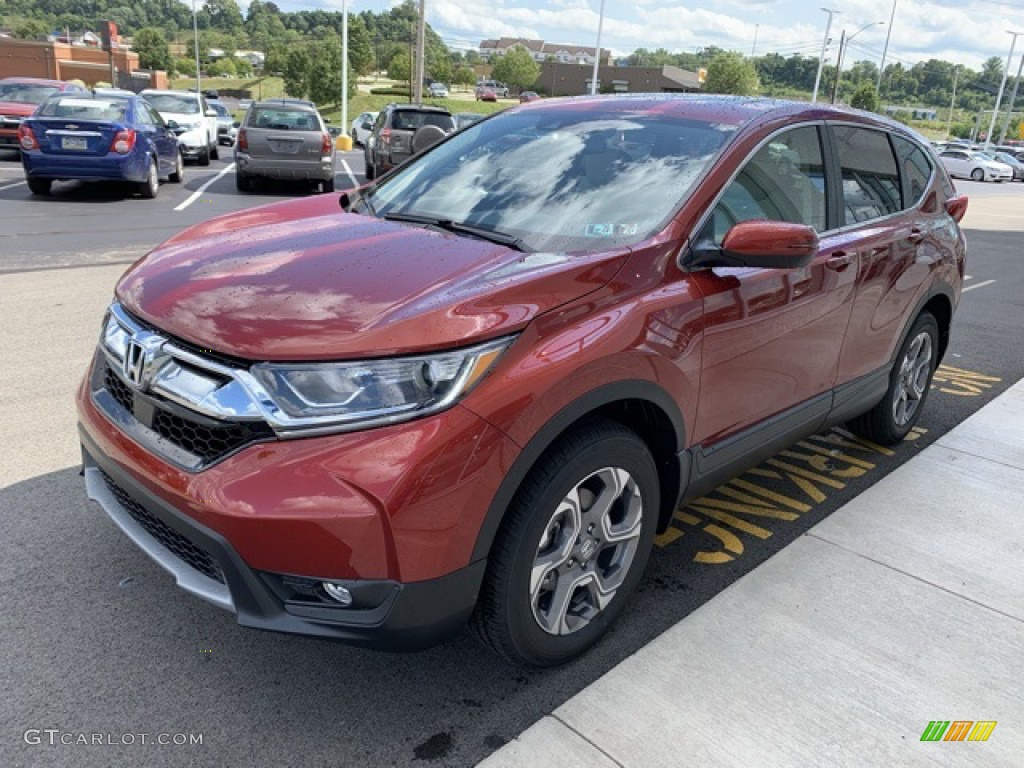 2019 CR-V EX-L - Basque Red Pearl II / Ivory photo #4