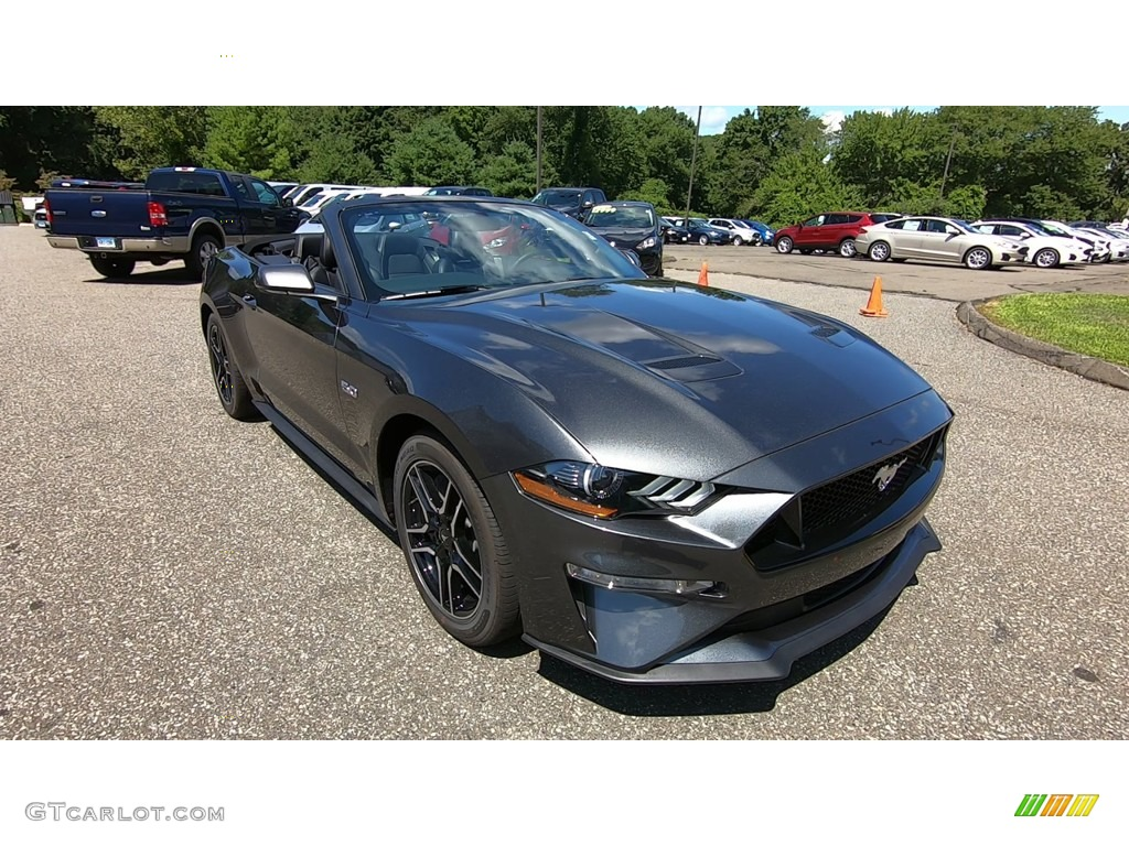 2019 Mustang GT Premium Convertible - Magnetic / Ebony photo #1