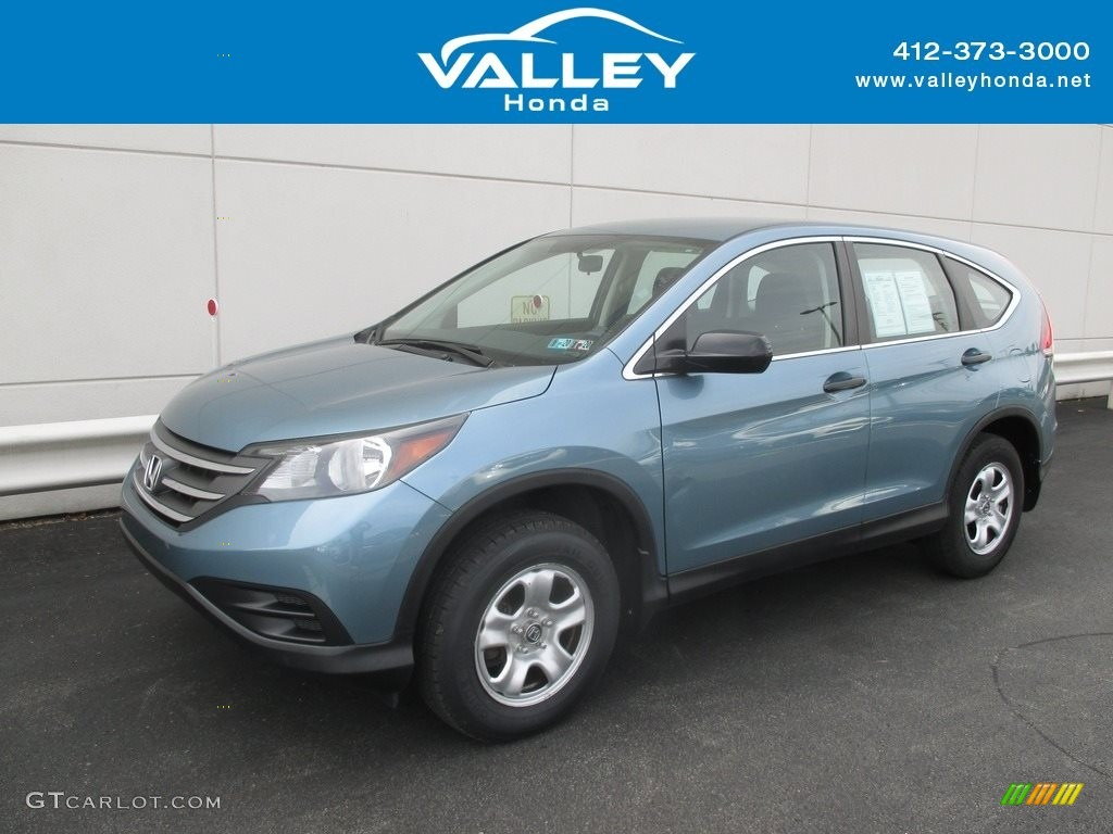 2014 CR-V LX AWD - Mountain Air Metallic / Gray photo #1