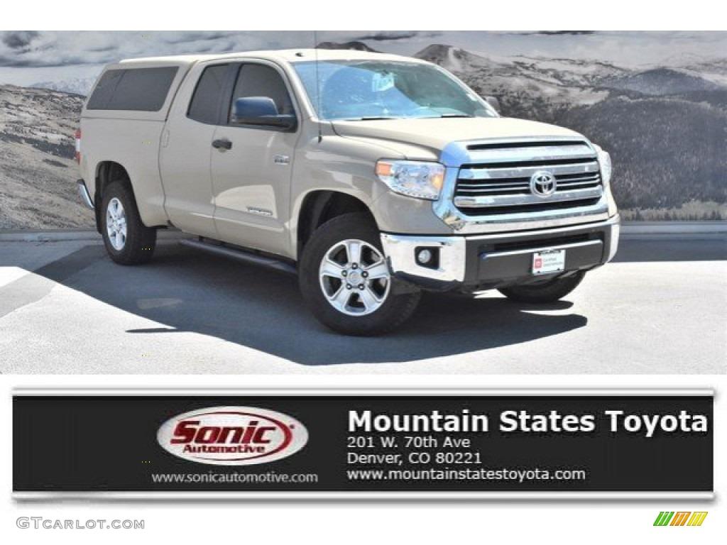 2017 Tundra SR5 Double Cab 4x4 - Sunset Bronze Mica / Black photo #1