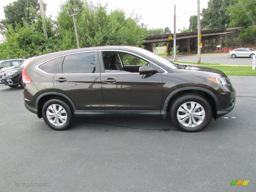 2014 CR-V EX AWD - Kona Coffee Metallic / Black photo #5