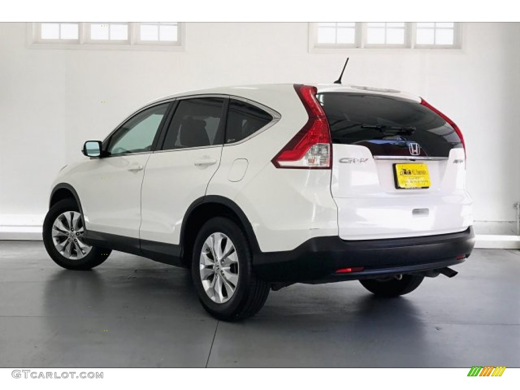 2012 CR-V EX 4WD - White Diamond Pearl / Beige photo #10