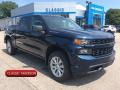 2019 Northsky Blue Metallic Chevrolet Silverado 1500 Custom Crew Cab 4WD #134784416