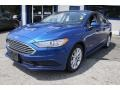 2017 Lightning Blue Ford Fusion Hybrid SE  photo #1