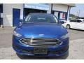 2017 Lightning Blue Ford Fusion Hybrid SE  photo #2