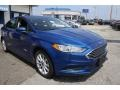 2017 Lightning Blue Ford Fusion Hybrid SE  photo #3