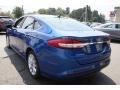 2017 Lightning Blue Ford Fusion Hybrid SE  photo #7