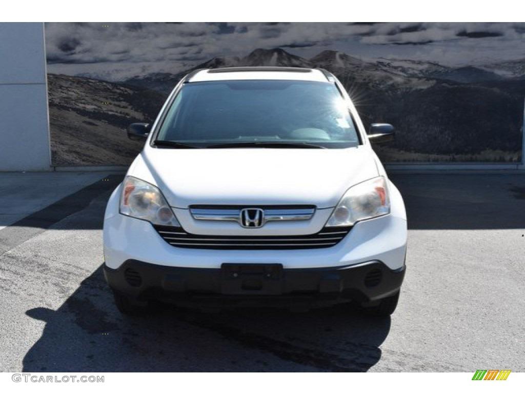 2009 CR-V EX 4WD - Taffeta White / Gray photo #8