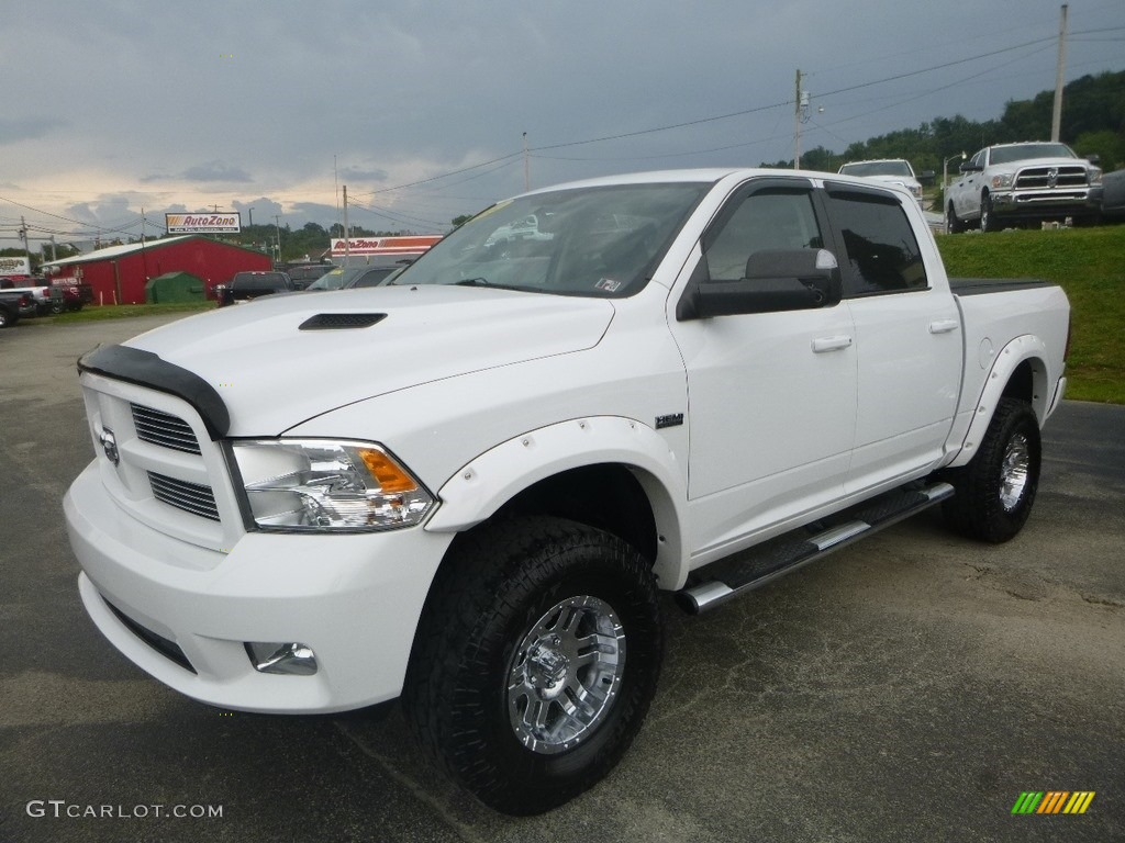 2012 Ram 1500 Sport Crew Cab 4x4 - Bright White / Dark Slate Gray photo #1
