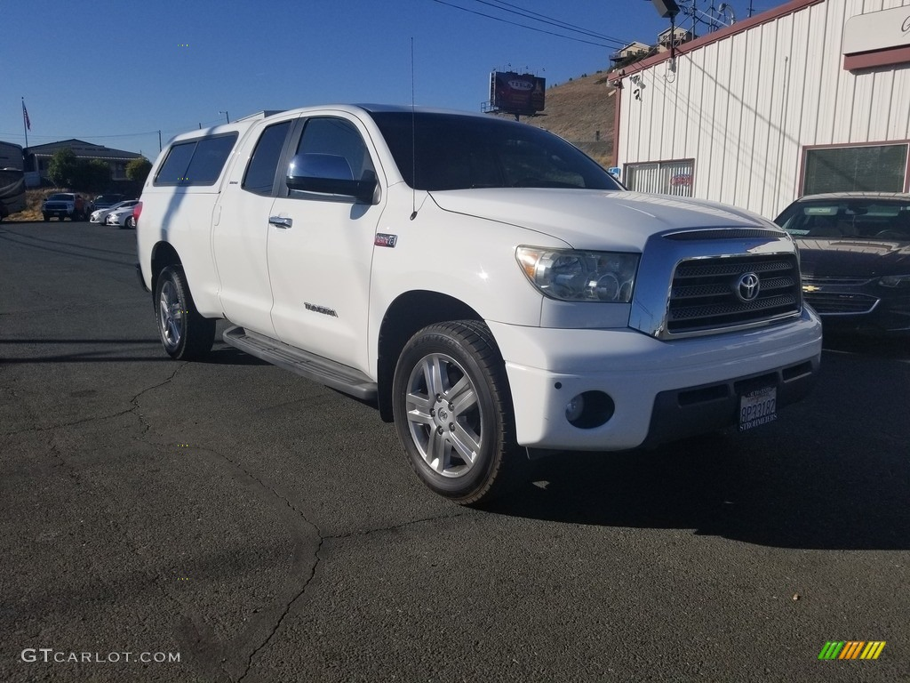 2007 Tundra Limited Double Cab 4x4 - Super White / Beige photo #1