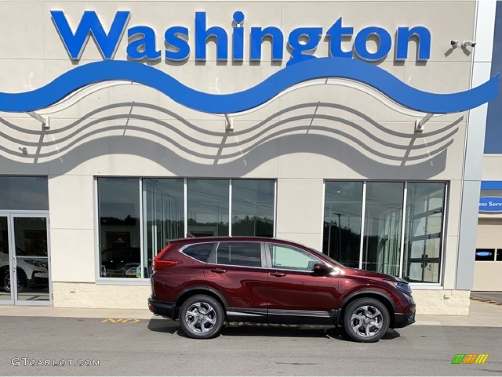 2019 CR-V EX-L - Basque Red Pearl II / Gray photo #1