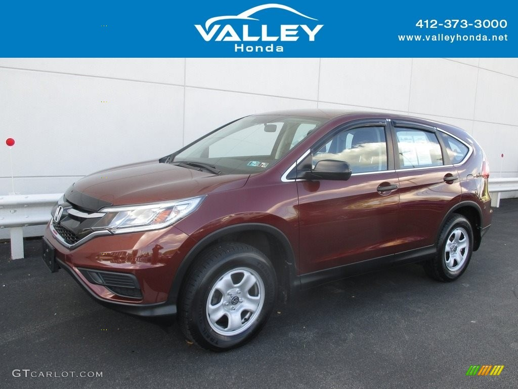 2015 CR-V LX AWD - Copper Sunset Pearl / Black photo #1