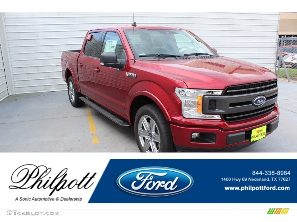2019 F150 XLT SuperCrew - Ruby Red / Black photo #1