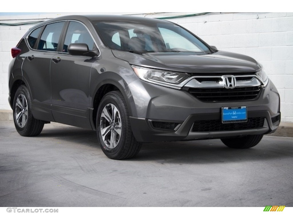 2019 CR-V LX - Modern Steel Metallic / Black photo #1