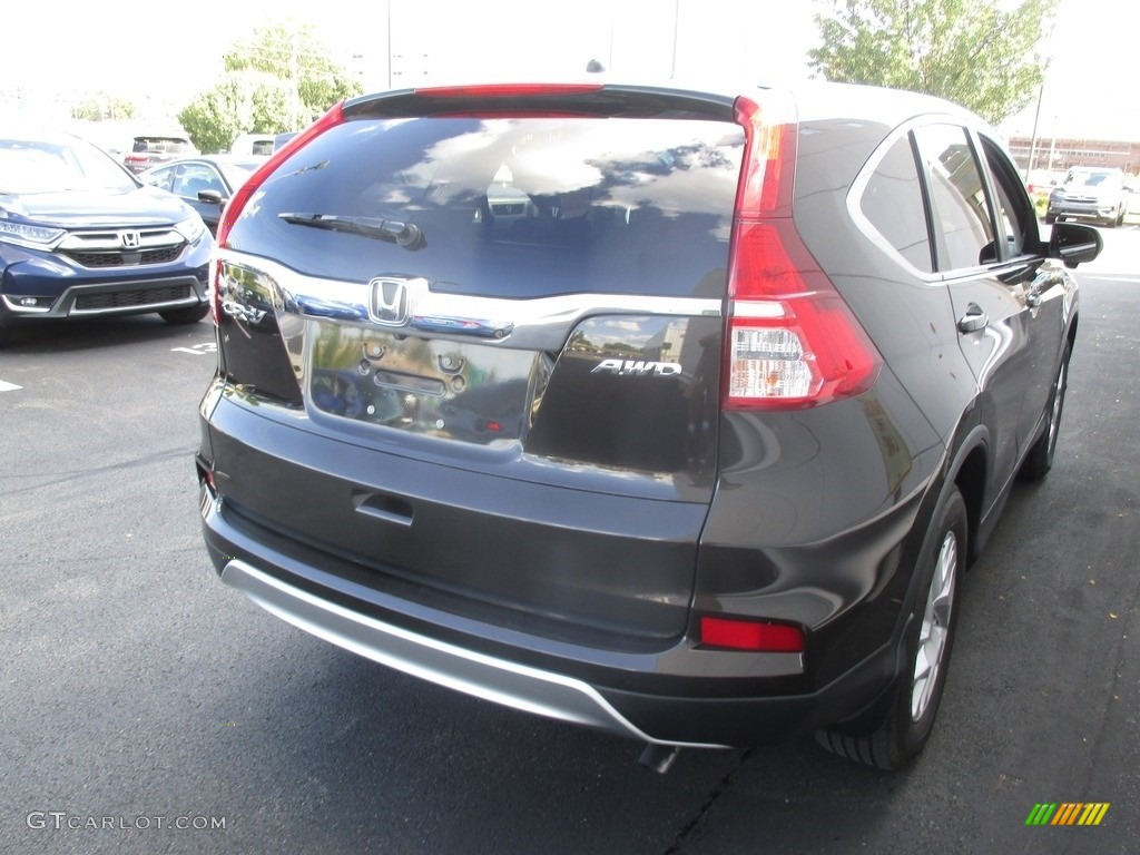2016 CR-V EX AWD - Kona Coffee Metallic / Black photo #5