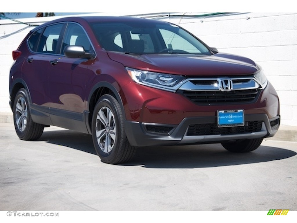 2019 CR-V LX - Basque Red Pearl II / Gray photo #1