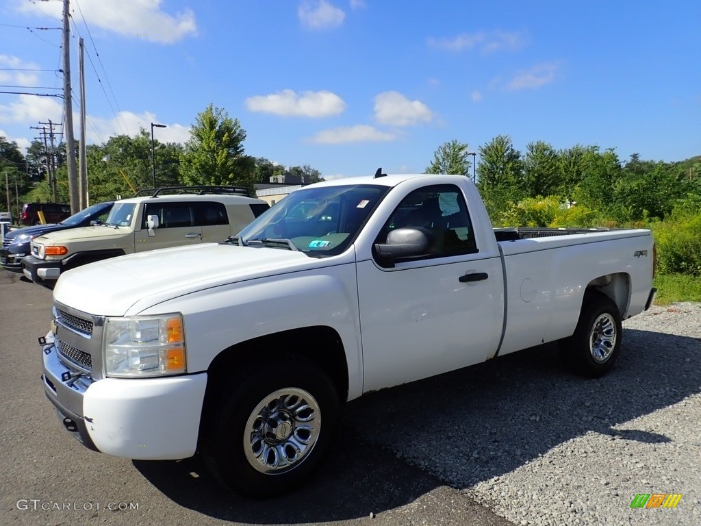 2009 Silverado 1500 Regular Cab 4x4 - Summit White / Dark Titanium photo #1