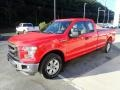 2016 Race Red Ford F150 XL SuperCab 4x4  photo #6