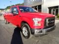 2016 Race Red Ford F150 XL SuperCab 4x4  photo #8