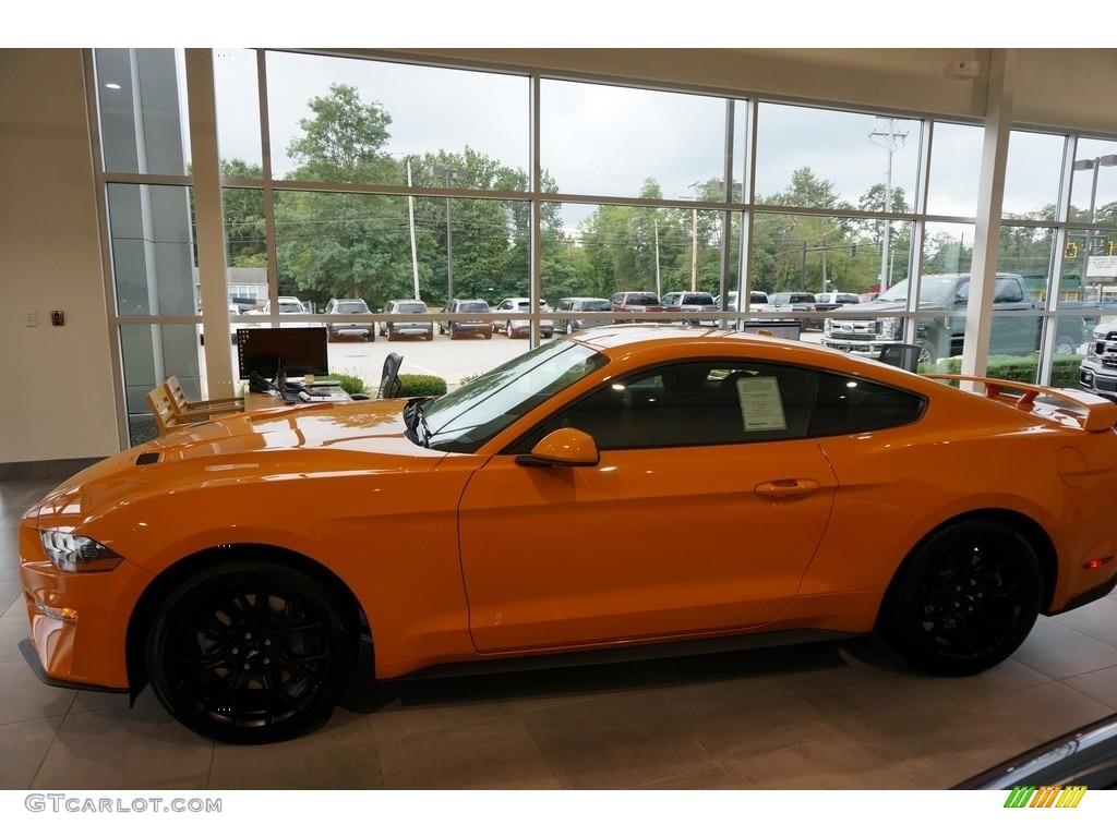 2019 Mustang EcoBoost Fastback - Orange Fury / Ebony photo #1