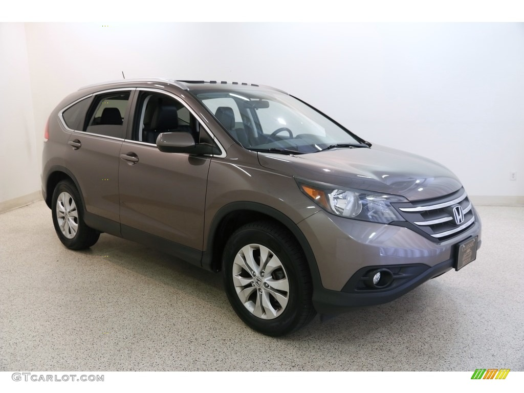 2013 CR-V EX-L AWD - Urban Titanium Metallic / Black photo #1