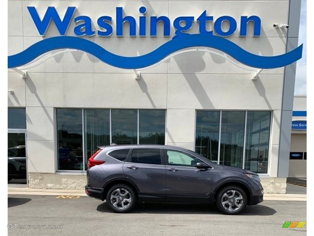 2019 CR-V EX AWD - Modern Steel Metallic / Black photo #1