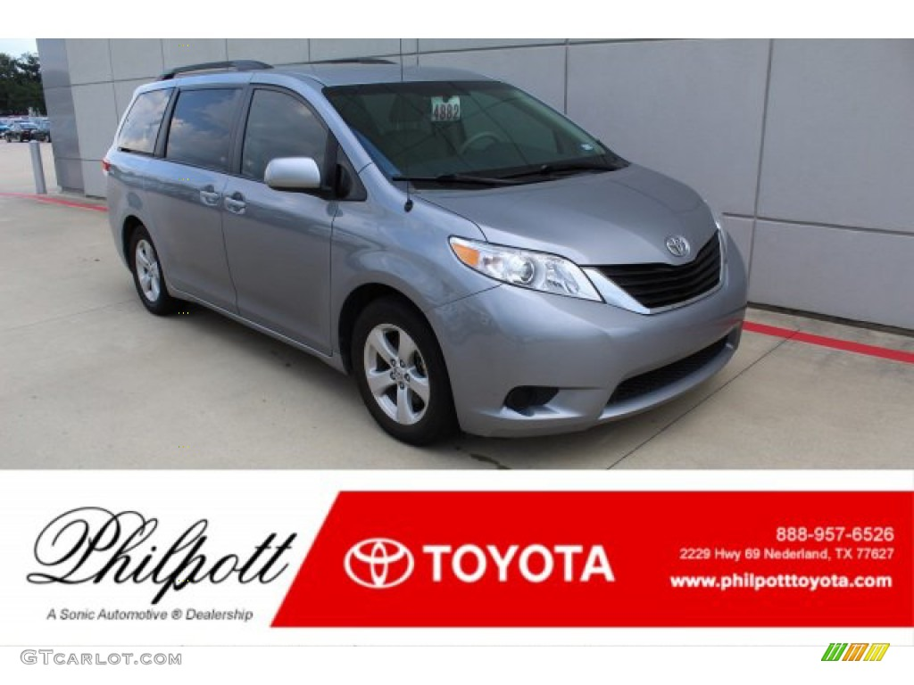 2013 Sienna LE - Silver Sky Metallic / Bisque photo #1