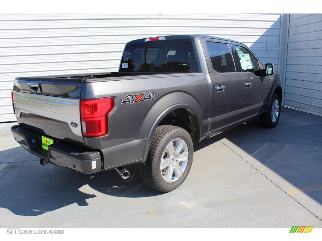2019 F150 Platinum SuperCrew 4x4 - Magnetic / Black photo #8