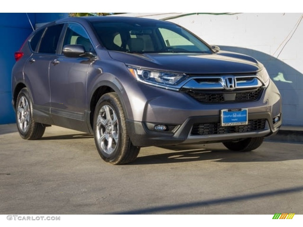 2019 CR-V EX - Modern Steel Metallic / Black photo #1