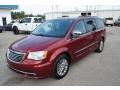 Deep Cherry Red Crystal Pearl 2013 Chrysler Town & Country Touring - L