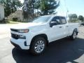 2020 Summit White Chevrolet Silverado 1500 Custom Double Cab 4x4 #135288174