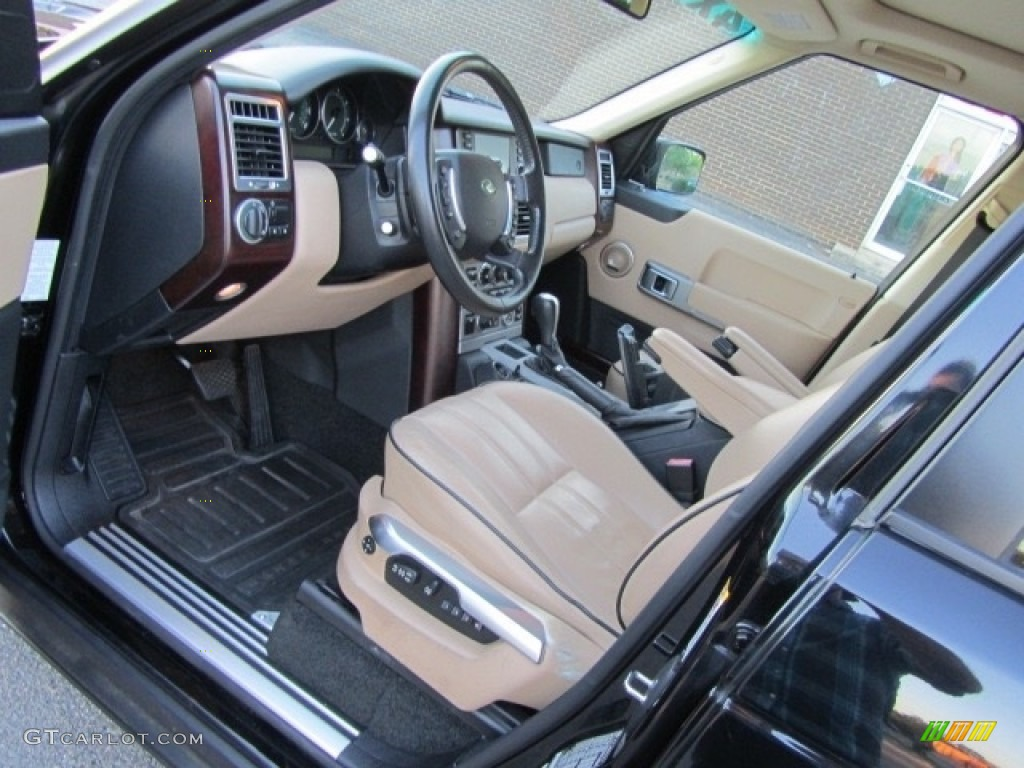 2006 Range Rover HSE - Java Black Pearl / Ivory/Aspen photo #17