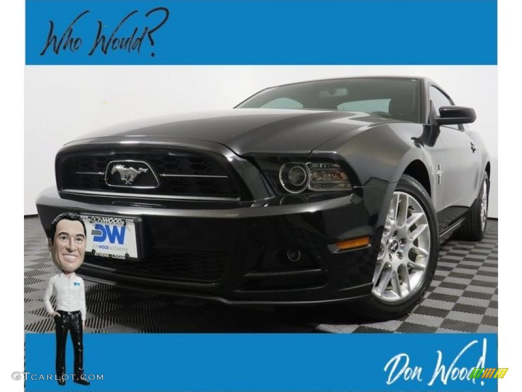 2014 Mustang V6 Premium Coupe - Black / Charcoal Black photo #1
