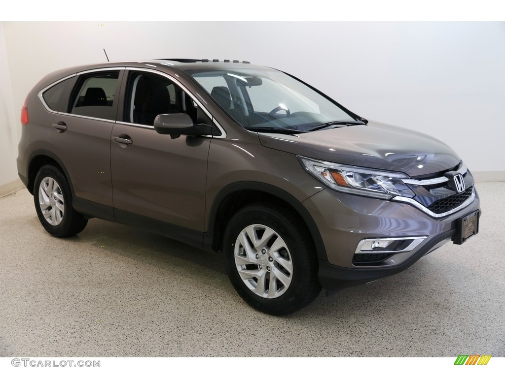 2016 CR-V EX AWD - Urban Titanium Metallic / Black photo #1