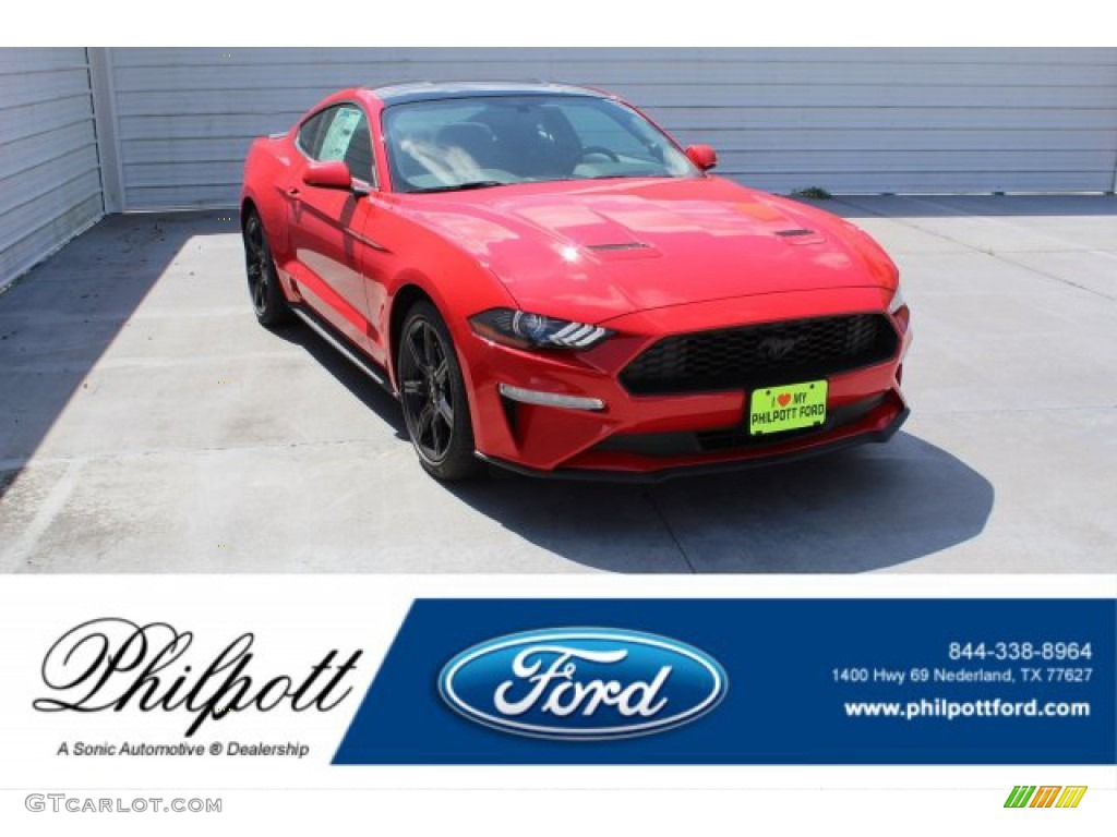 2019 Mustang EcoBoost Fastback - Race Red / Ebony photo #1
