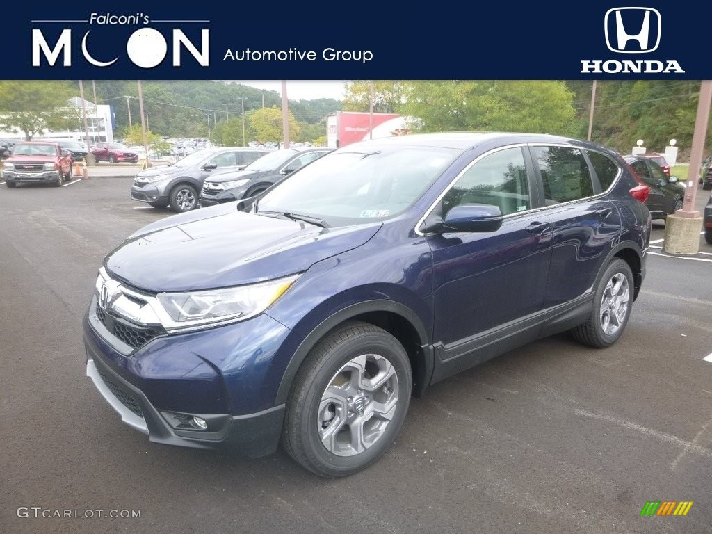 2019 CR-V EX AWD - Obsidian Blue Pearl / Gray photo #1