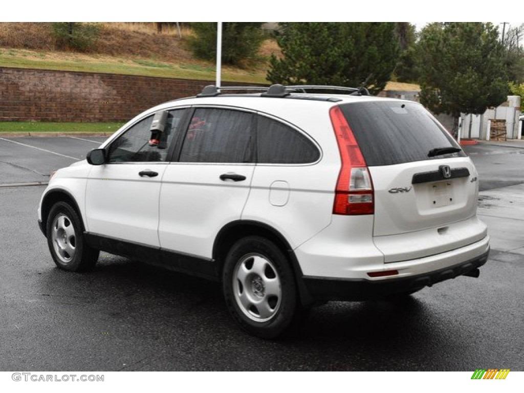2011 CR-V LX 4WD - Taffeta White / Gray photo #4