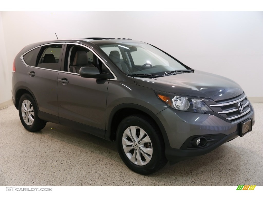 2014 CR-V EX AWD - Polished Metal Metallic / Gray photo #1