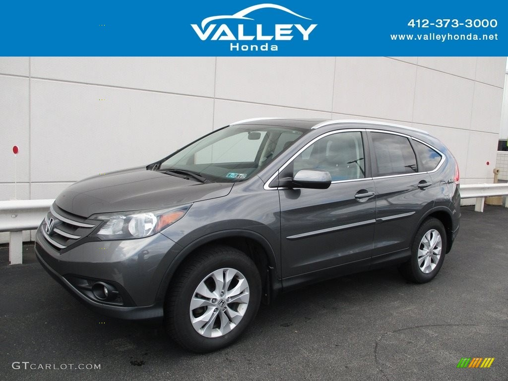 2014 CR-V EX-L AWD - Urban Titanium Metallic / Gray photo #1